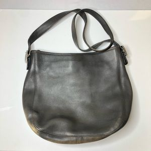 VINTAGE COACH | Gray Leather Hobo Purse